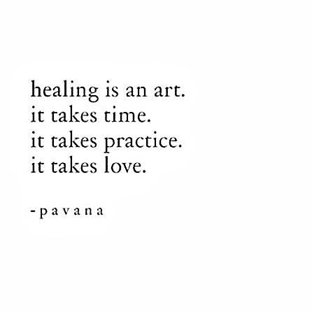 Healing takes practice