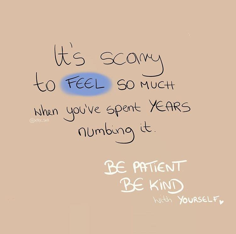 Feeling is healing!